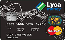 Carte Lycamoney Mastercard